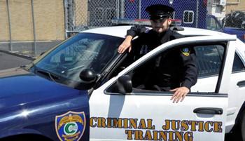Cop by cop car